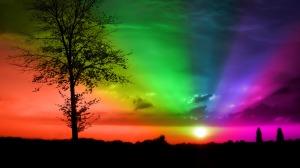 rainbow+sunset+background